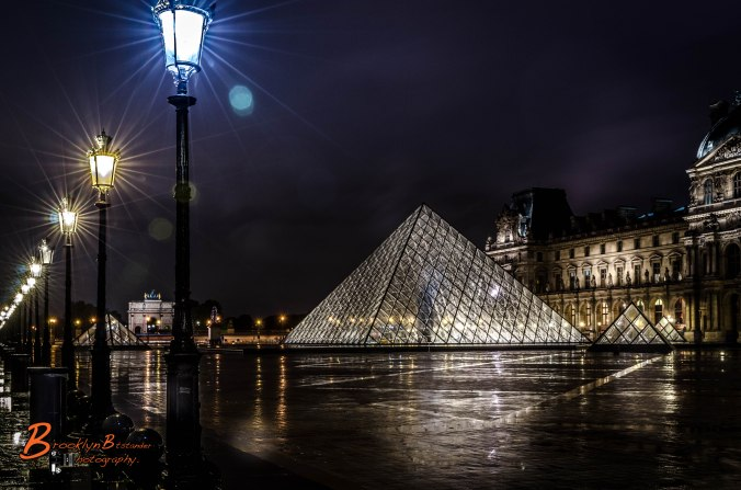 The Musée du Louvre Night