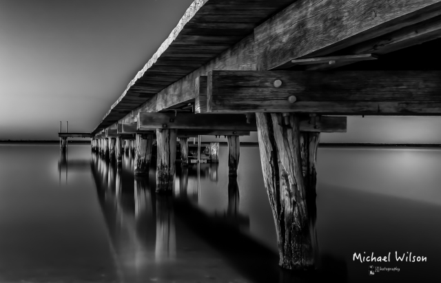 Barmera Jetty  Black and White