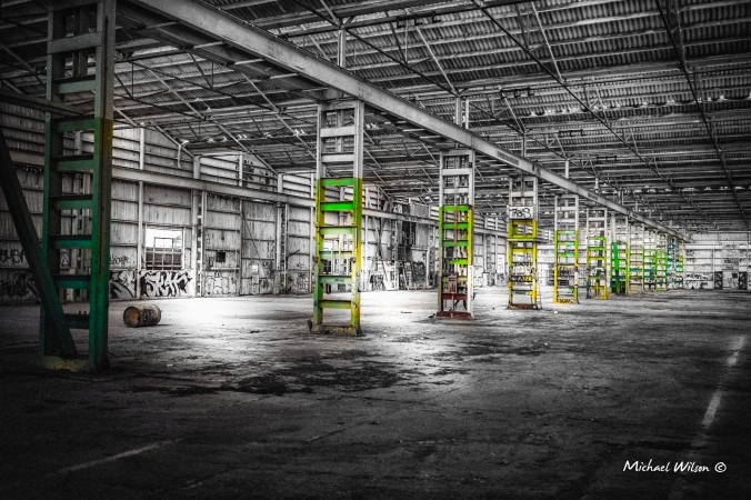 abandoned warehouseBW